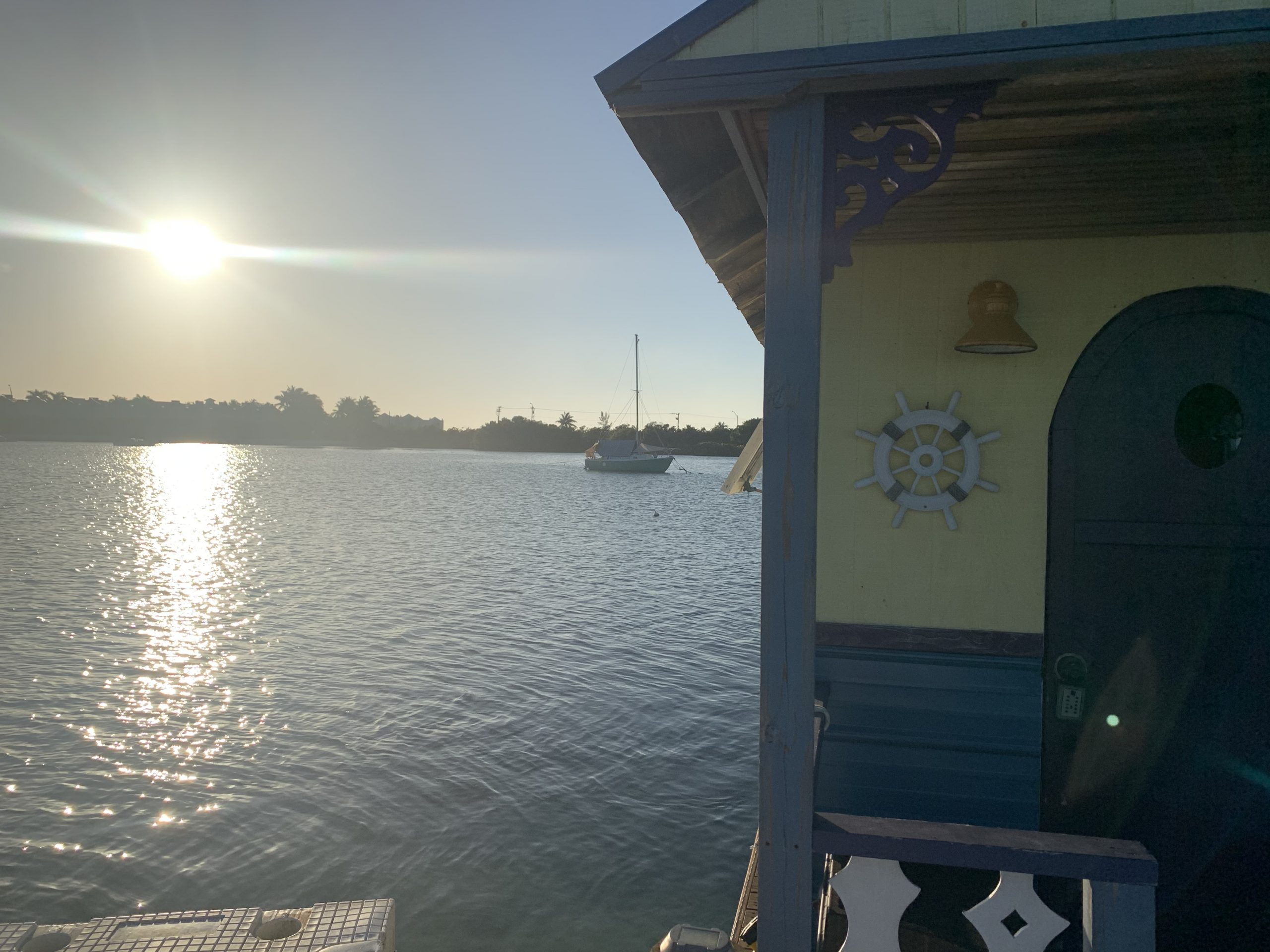 Floating House in Key West front door pic